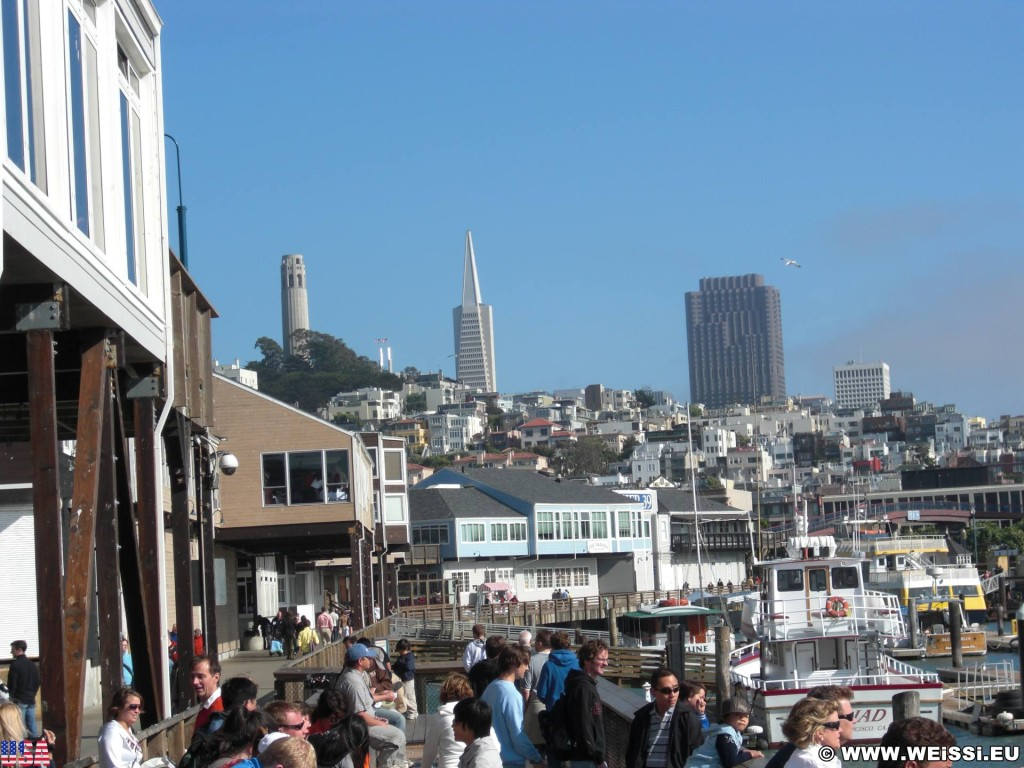 San Francisco. Pier 39. - Westküste, Fishermans Wharf, Coit Tower, Pier 39, Transamerica Pyramid, San Francisco - (Fisherman's Wharf, San Francisco, California, Vereinigte Staaten)