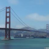 San Francisco. Golden Gate Bridge. - Westküste, Presidio, Brücke, Golden Gate Bridge, Hängebrücke, San Francisco Bay, Wahrzeichen, Bauwerk, San Francisco - (Fort Winfield Scott, San Francisco, California, Vereinigte Staaten)