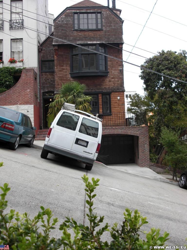 San Francisco. - Westküste, Filbert Street, San Francisco - (Russian Hill, San Francisco, California, Vereinigte Staaten)