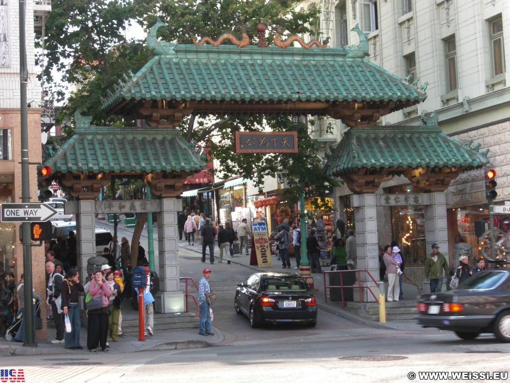 San Francisco. - Westküste, Chinatown, Chinatown Gate, Dragon Gate, San Francisco - (Chinatown, San Francisco, California, Vereinigte Staaten)