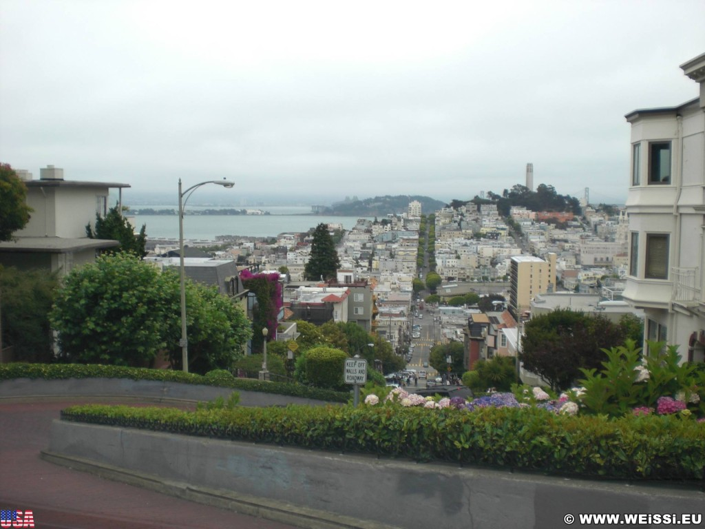 San Francisco. - Westküste, Coit Tower, Lombard Street, San Francisco - (Russian Hill, San Francisco, California, Vereinigte Staaten)