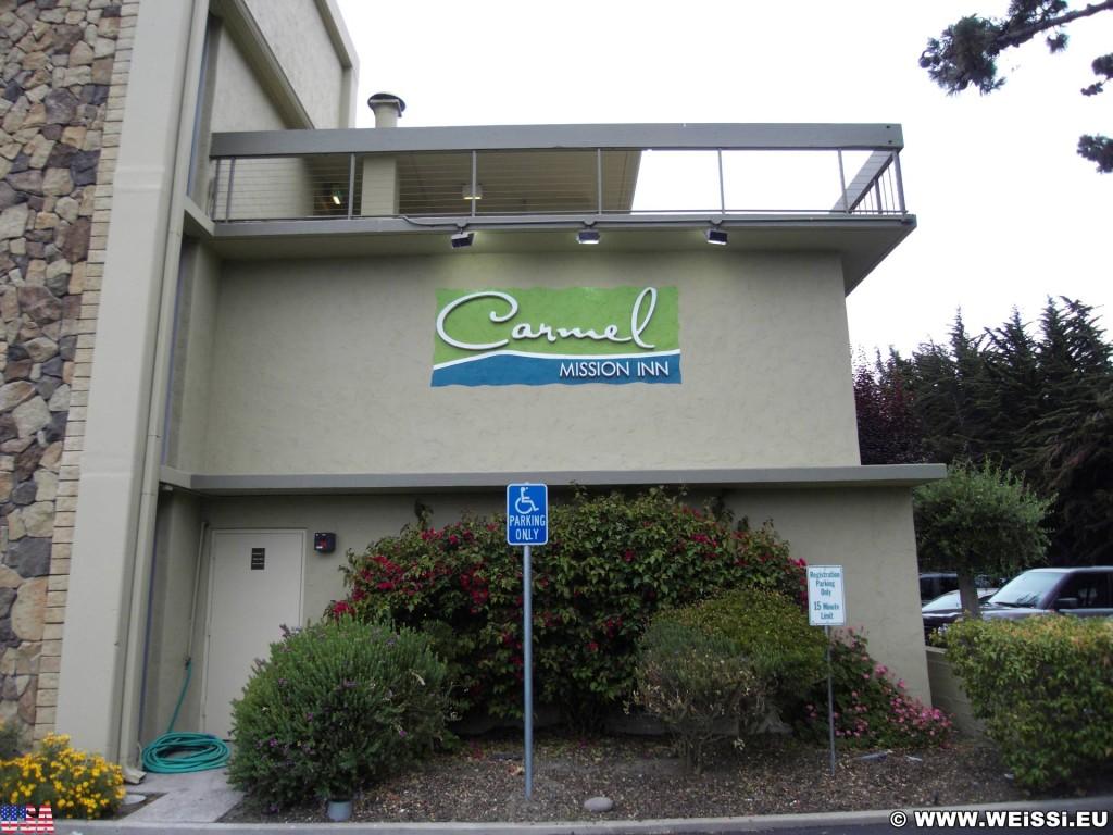 Carmel by the Sea. - Westküste, Hotel, Unterkunft, Carmel Mission Inn Hotel, Werbeschrift, Carmel-By-the-Sea, Carmel-Mission-Inn - (Carmel-by-the-Sea, Carmel, California, Vereinigte Staaten)