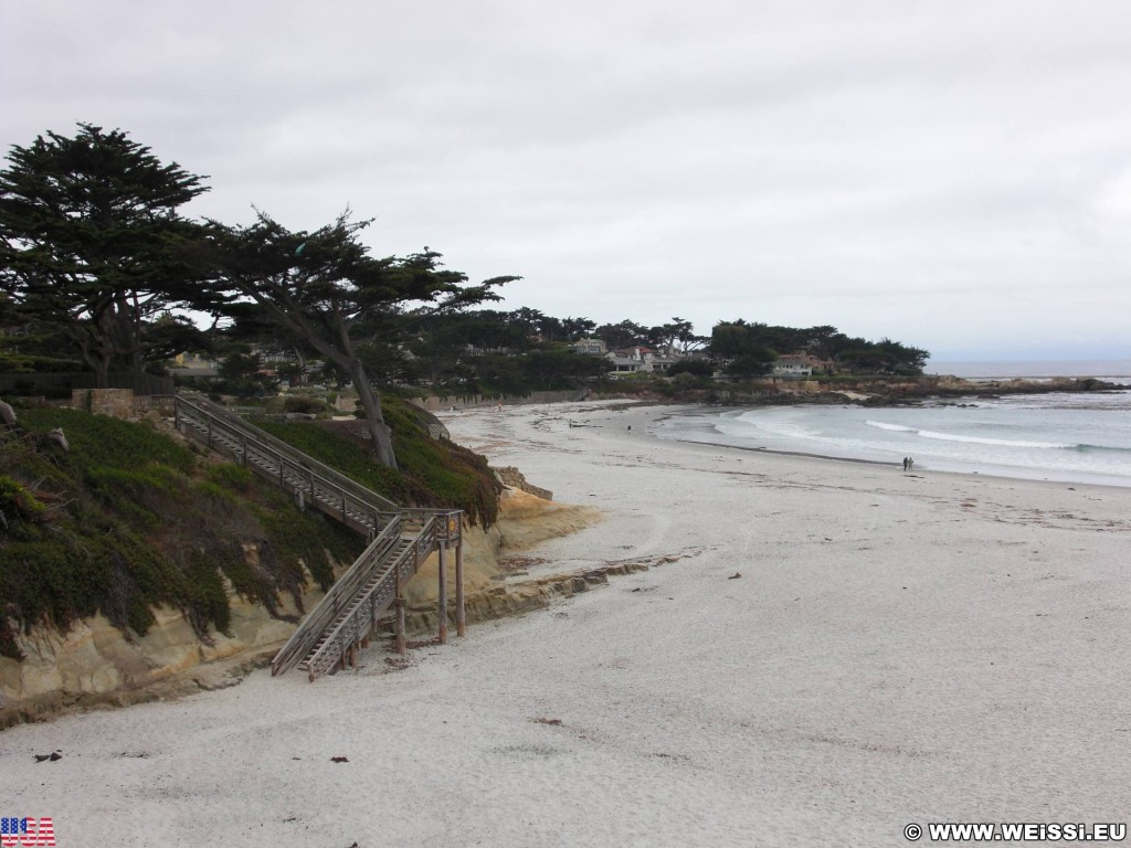 Carmel by the Sea. - Westküste, Strand, Carmel-By-the-Sea, Stiege, Holztreppe, Treppe - (Carmel-by-the-Sea, Carmel, California, Vereinigte Staaten)