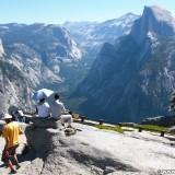 Yosemite National Park. - Landschaft, Panorama, Yosemite Nationalpark, Aussichtspunkt, Half Dome, Glacier Point - (Curry Village, Yosemite National Park, California, Vereinigte Staaten)