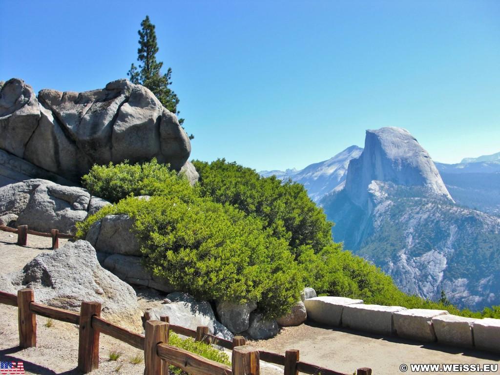 Yosemite National Park. - Landschaft, Panorama, Yosemite Nationalpark, Half Dome, Glacier Point - (Curry Village, Yosemite National Park, California, Vereinigte Staaten)