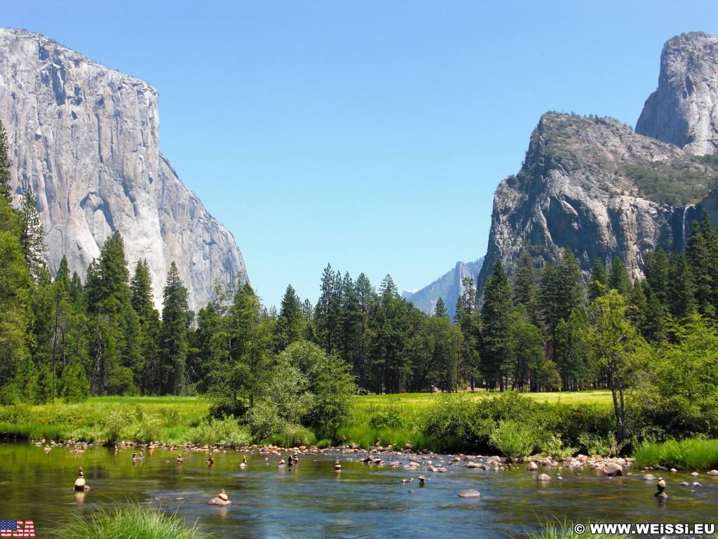 Yosemite National Park. - Yosemite Nationalpark, Aussichtspunkt, Yosemite Valley, Valley View - (Yosemite Village, Yosemite National Park, California, Vereinigte Staaten)