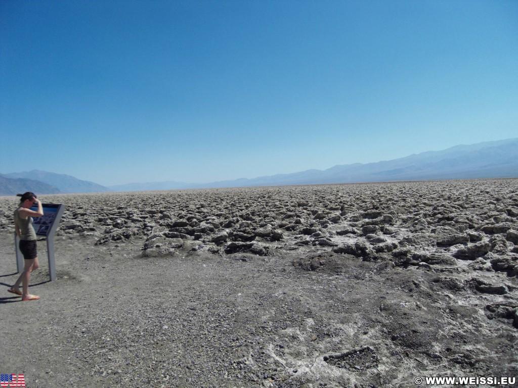 Death Valley National Park. - Death-Valley-Nationalpark, Devils Golf Course - (Badwater, Death Valley, California, Vereinigte Staaten)
