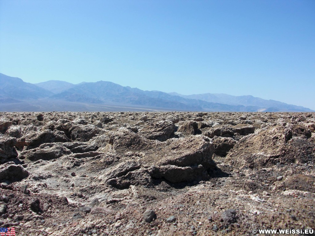 Death Valley National Park. - Death-Valley-Nationalpark, Devils Golf Course - (Badwater, Death Valley, California, Vereinigte Staaten)