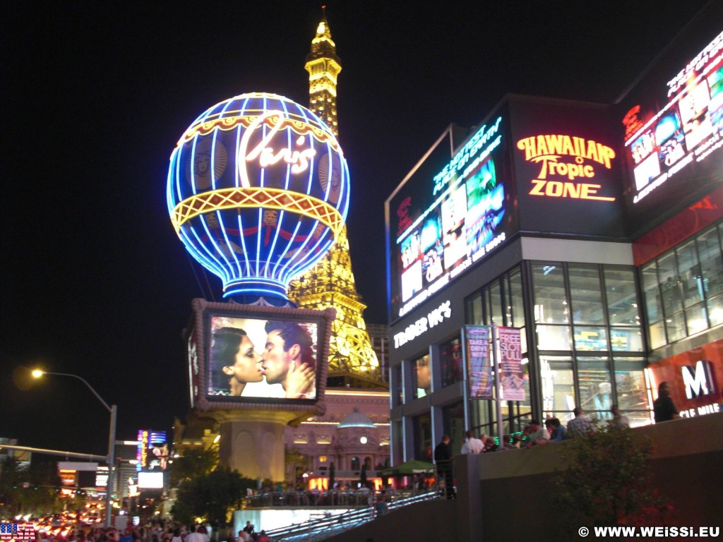 Las Vegas. - Las Vegas, Fassadenbeleuchtung, Paris Las Vegas, Videowall - (Bracken, Las Vegas, Nevada, Vereinigte Staaten)