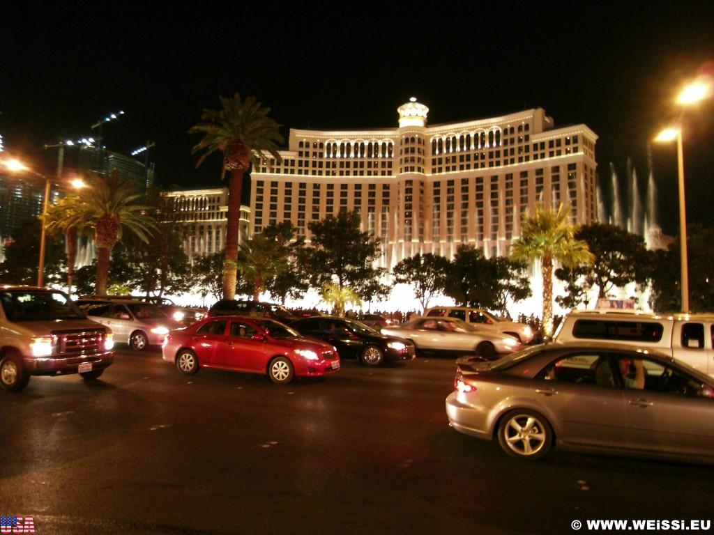 Las Vegas. - Gebäude, Hotel, Las Vegas, Fassadenbeleuchtung, Hotel Bellagio - (Bracken, Las Vegas, Nevada, Vereinigte Staaten)