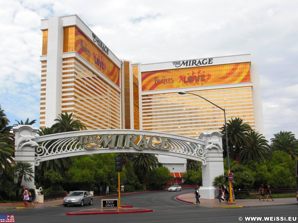 Las Vegas. The Mirage Hotel - Las Vegas. - Gebäude, Hotel, Las Vegas, The Mirage Hotel, Fassade, Ausfahrt - (Bracken, Las Vegas, Nevada, Vereinigte Staaten)
