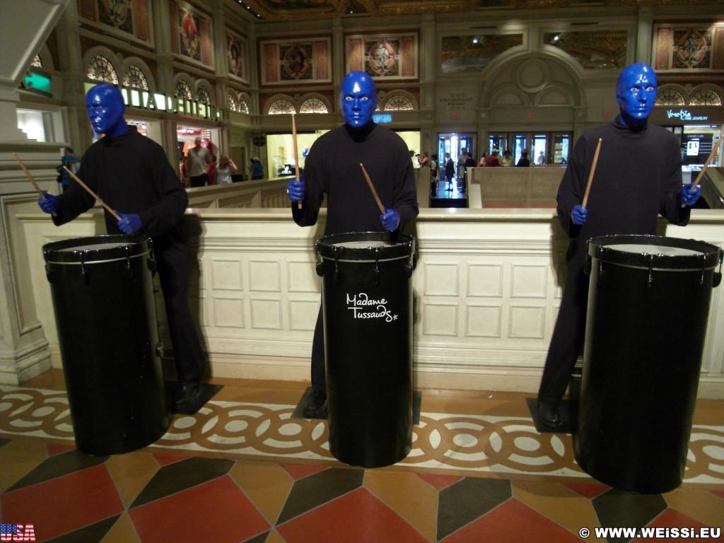 Las Vegas. - Personen, Las Vegas, Venetian Resort Hotel, Blue Man Group - (Bracken, Las Vegas, Nevada, Vereinigte Staaten)