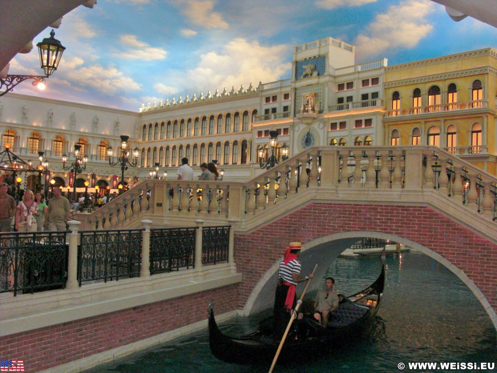 Las Vegas. - Las Vegas, Venetian Resort Hotel, Gondel, Gondoliere, Gondola, Markusplatz, Piazza San Marco - (Bracken, Las Vegas, Nevada, Vereinigte Staaten)