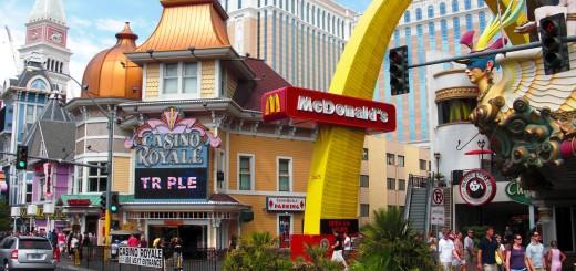 Las Vegas. - Gebäude, Hotel, Las Vegas, Mc Donald's, Casino Royale - (Bracken, Las Vegas, Nevada, Vereinigte Staaten)