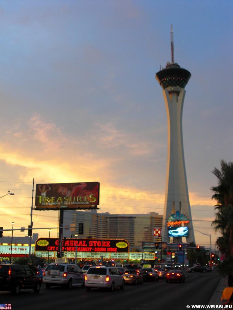 Las Vegas. - Gebäude, Hotel, Aussichtsturm, Las Vegas, Stratosphere Tower, Turm, Restaurant - (Winchester, Las Vegas, Nevada, Vereinigte Staaten)