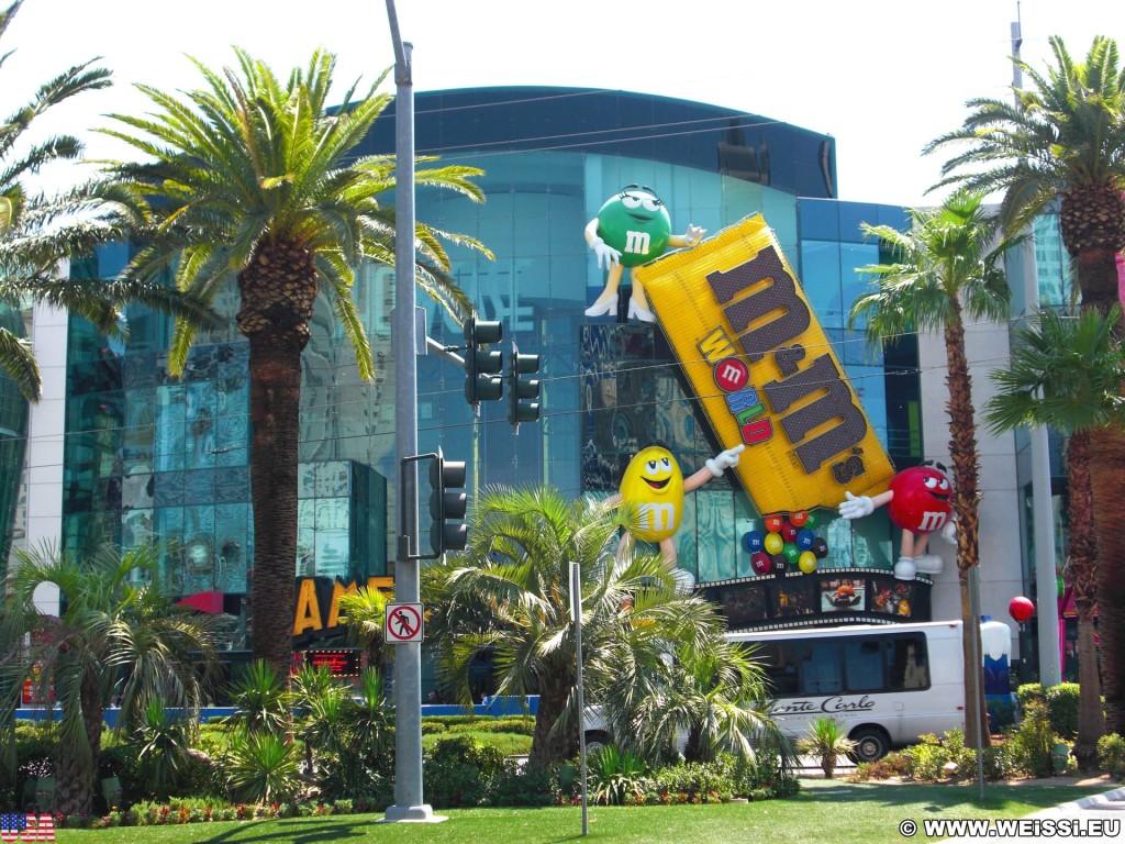 Las Vegas. - Gebäude, Las Vegas, Leuchtschild, Fassade, M&M World - (Bracken, Las Vegas, Nevada, Vereinigte Staaten)