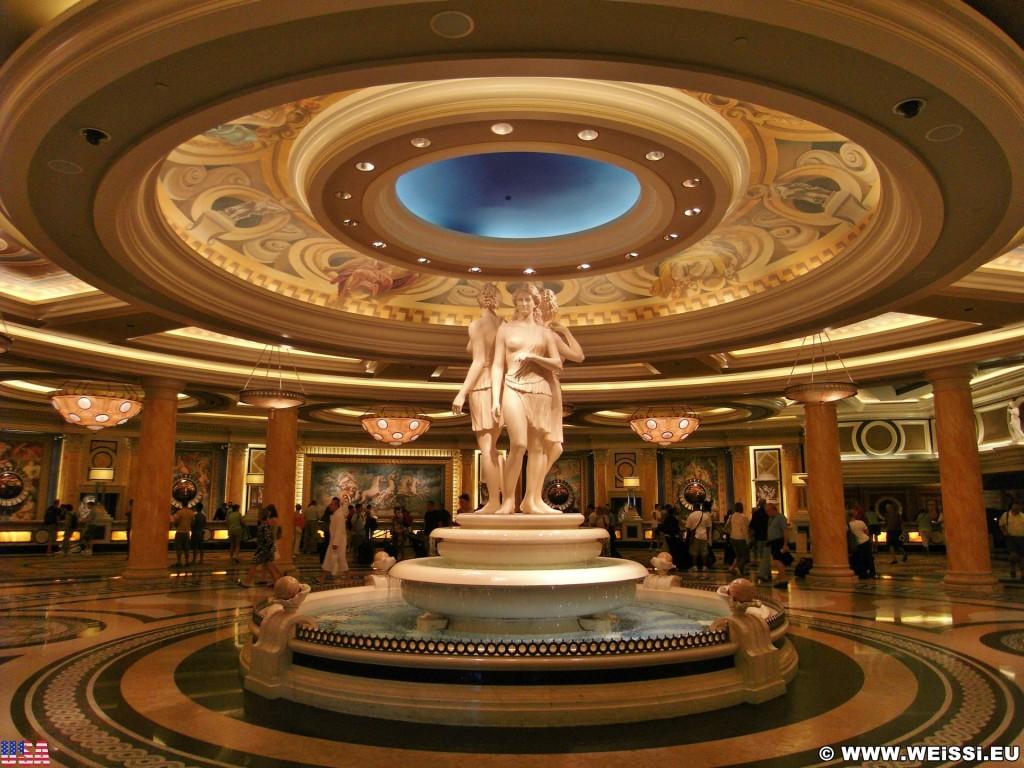 Las Vegas. - Hotel, Eingangsbereich, Las Vegas, Brunnen, Eingangshalle, Skulpturen, Caesars Palace Hotel, Figuren - (Bracken, Las Vegas, Nevada, Vereinigte Staaten)