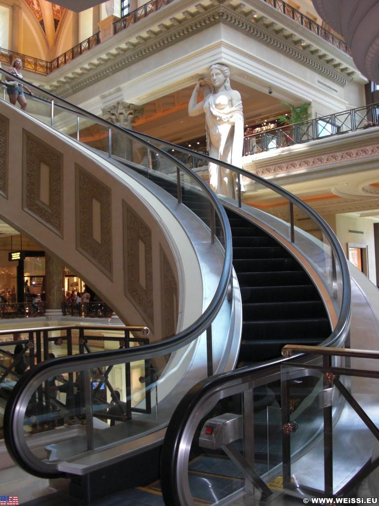 Las Vegas. - Hotel, Las Vegas, Forum Shops, Rolltreppe, Caesars Palace Hotel - (Bracken, Las Vegas, Nevada, Vereinigte Staaten)