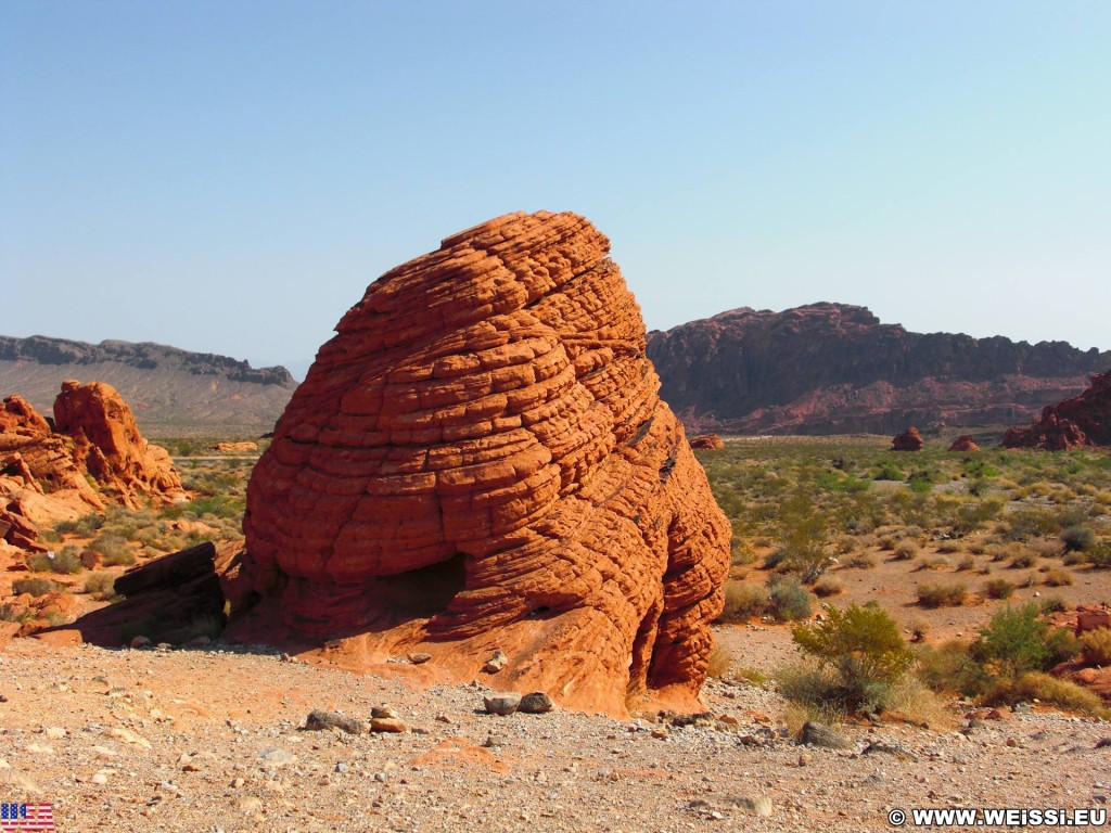 Valley of Fire State Park. Beehives - Valley of Fire State Park. - Felsen, Felsformation, Valley of Fire State Park, Sandstein, Sandsteinformationen, Erosion, Beehives - (Valley of Fire State Park, Mesquite, Nevada, Vereinigte Staaten)