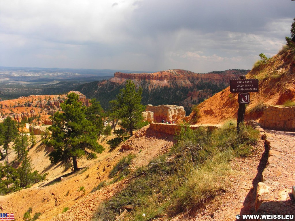 Bryce Canyon National Park. Sunrise Point - Bryce Canyon National Park. - Landschaft, Sandstein, Sandsteinformationen, Bryce Canyon National Park, Sunrise Point - (Bryce Canyon, Utah, Vereinigte Staaten)