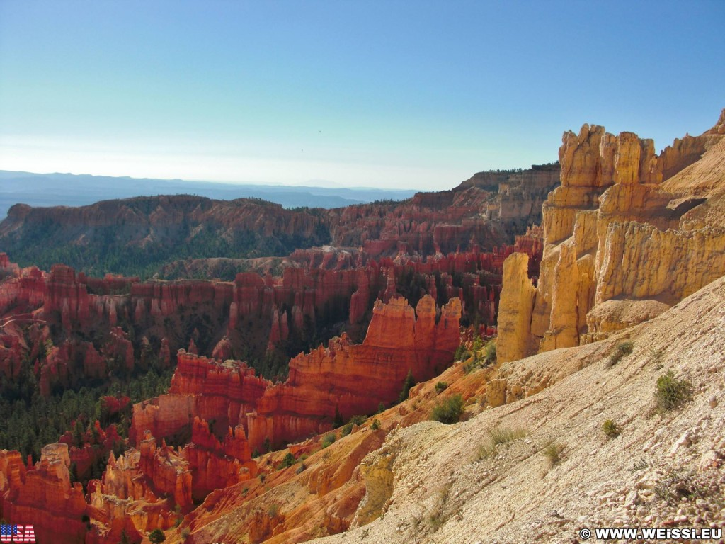 Bryce Canyon National Park. Inspiration Point - Bryce Canyon National Park. - Felsen, Aussichtspunkt, Sandstein, Sandsteinformationen, Bryce Canyon National Park, Hoodoos, Felsnadeln, Inspiration Point - (Bryce Canyon, Utah, Vereinigte Staaten)