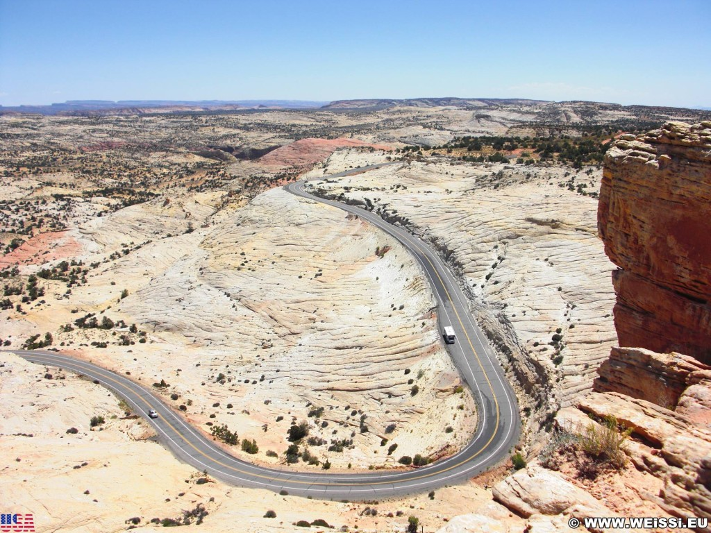 Highway 12 - Scenic Byway. - Strasse, Landschaft, Aussichtspunkt, Grand Staircase Escalante National Monument, Highway 12, Head of the Rocks Overlook - (Escalante, Utah, Vereinigte Staaten)
