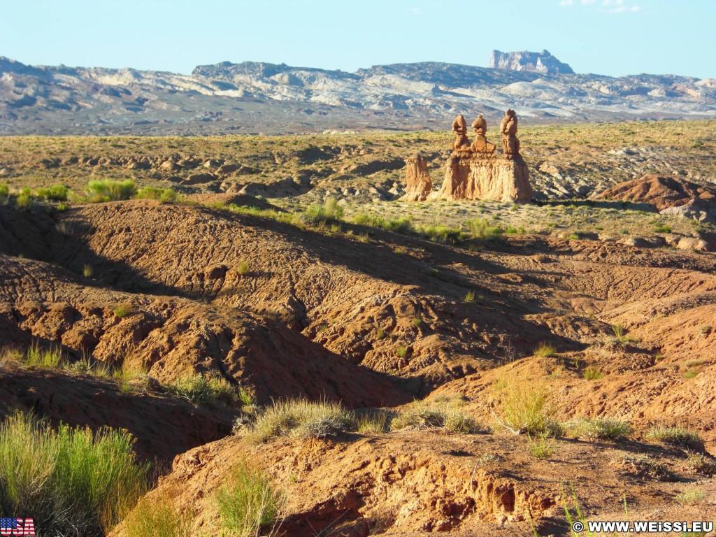 Goblin Valley State Park. - Landschaft, Skulpturen, Figuren, Sandstein, Sandsteinformationen, State Park, Goblin Valley, Mushroom Valley, Pilze, Kobolde - (Hanksville, Green River, Utah, Vereinigte Staaten)