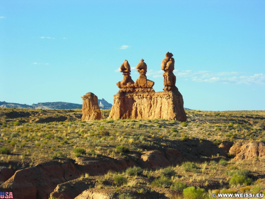 Goblin Valley State Park. - Landschaft, Skulpturen, Figuren, Sandstein, Sandsteinformationen, State Park, Goblin Valley, Mushroom Valley, Pilze, Kobolde - (Hanksville, Green River, Utah, Vereinigte Staaten)