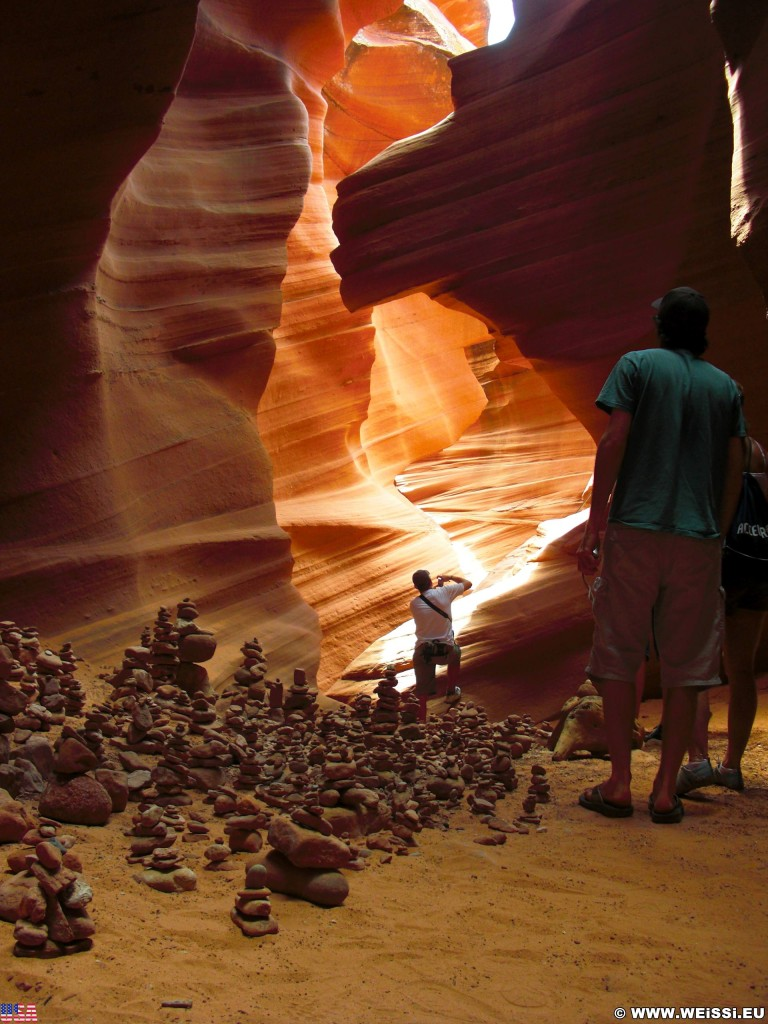 Lower Antelope Canyon. - Sandstein, Canyon, Schlucht, Antelope Canyon, Lower Antelope Canyon, Slot Canyon - (Page, Arizona, Vereinigte Staaten)