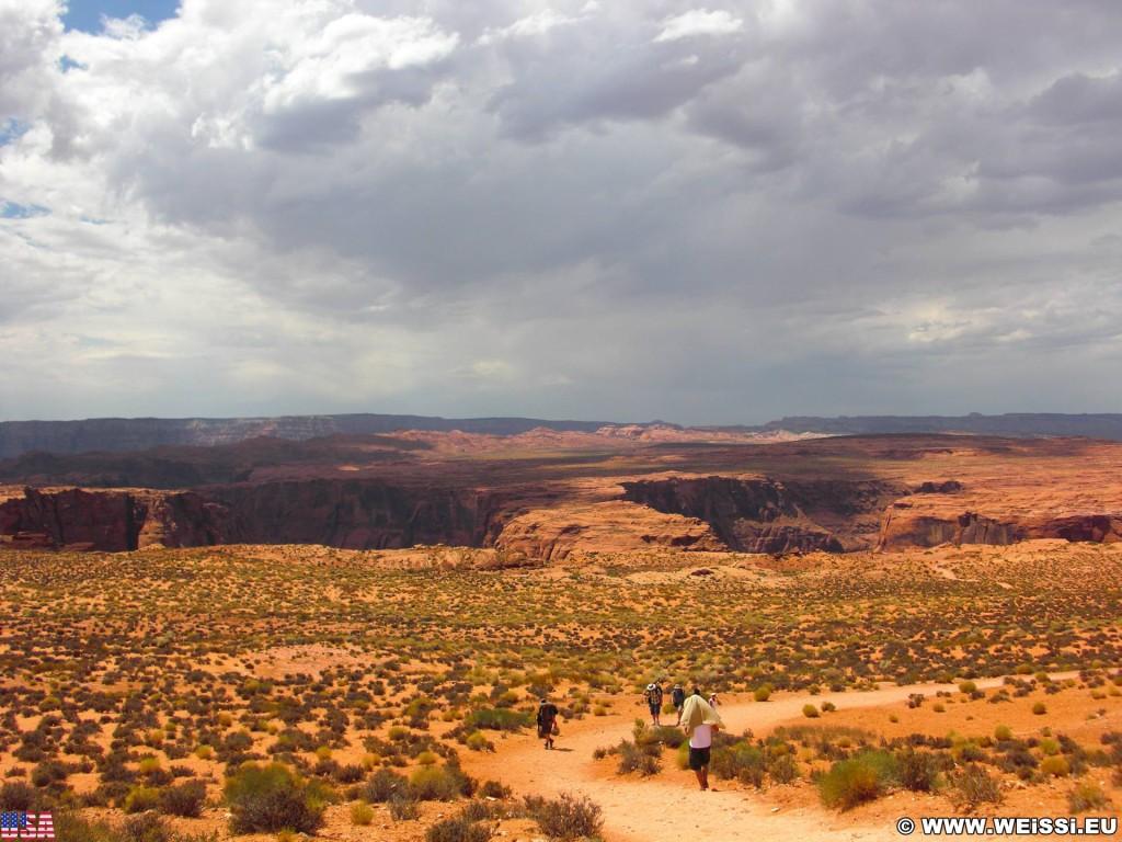 Horseshoe Bend. - Landschaft, Felsen, Felswand, Sandstein, Colorado River, Horseshoe Bend, King Bend, Mäander, Flussschlinge - (LeChee Chapter, Page, Arizona, Vereinigte Staaten)