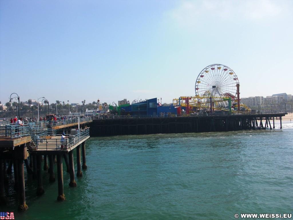 Santa Monica. Santa Monica Pier. - Santa Monica, Santa Monica Pier, Pier, Pacific Park - (Santa Monica, California, Vereinigte Staaten)