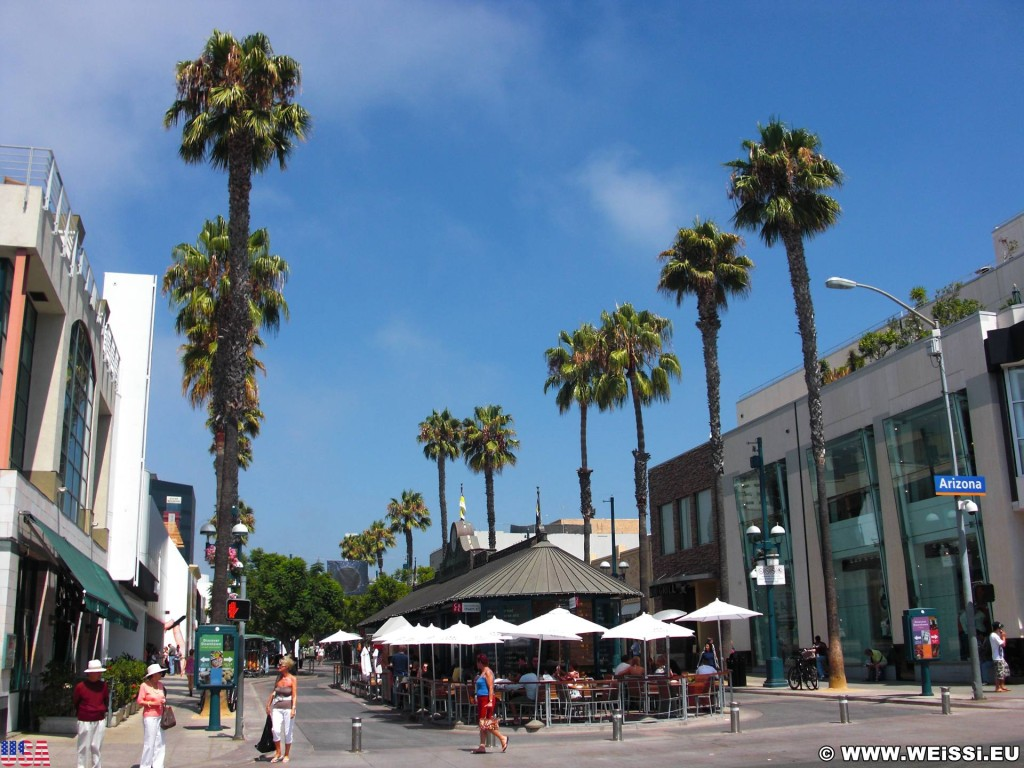 Santa Monica. Third Street Promenade - Santa Monica. - Downtown, Santa Monica, Third Street Promenade - (Santa Monica, California, Vereinigte Staaten)