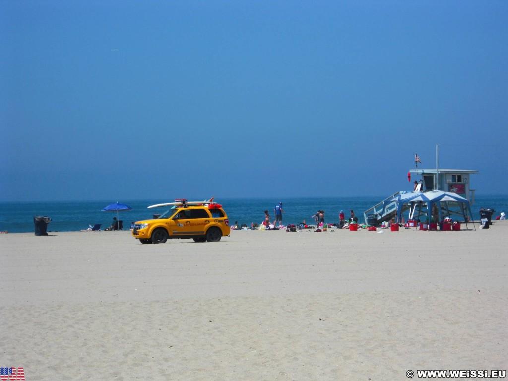 Santa Monica. - Westküste, Strand, Pazifik, Santa Monica, Beach, Baywatch, Rettungsschwimmer, Wasserrettung - (Santa Monica, California, Vereinigte Staaten)