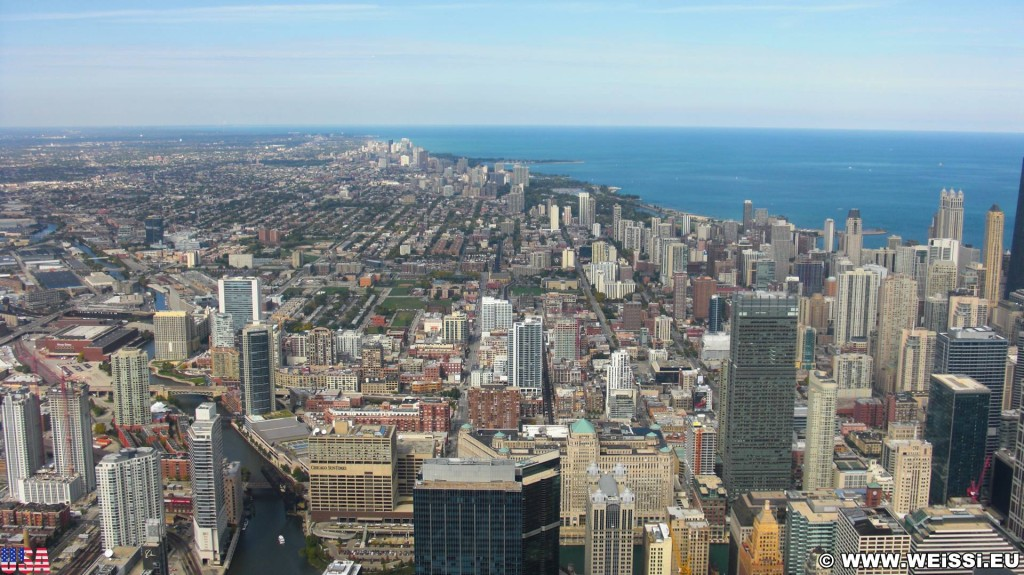 Willis Tower. Ausblick vom Willis Tower. - Skyline, Duncans Addition, Willis Tower, Century Tower - (Duncans Addition, Chicago, Illinois, Vereinigte Staaten)