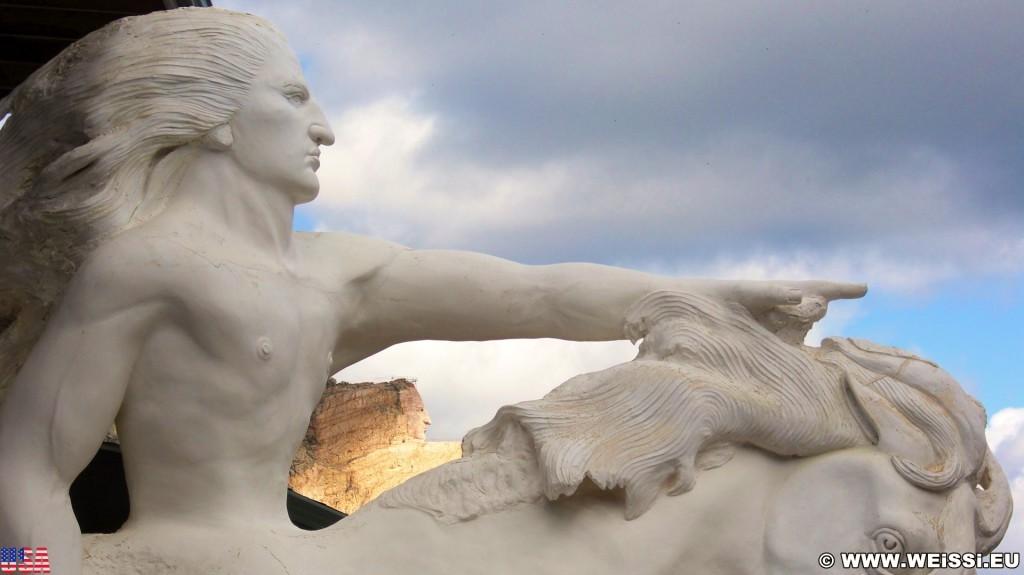 Crazy Horse Memorial. - Skulptur, Gesicht, Reiter, Black Hills, Granit, Berne, Crazy Horse Memorial, Custer, Crazy Horse, Thunderhead Mountain, Korczak Ziolkowski - (Berne, Custer, South Dakota, Vereinigte Staaten)