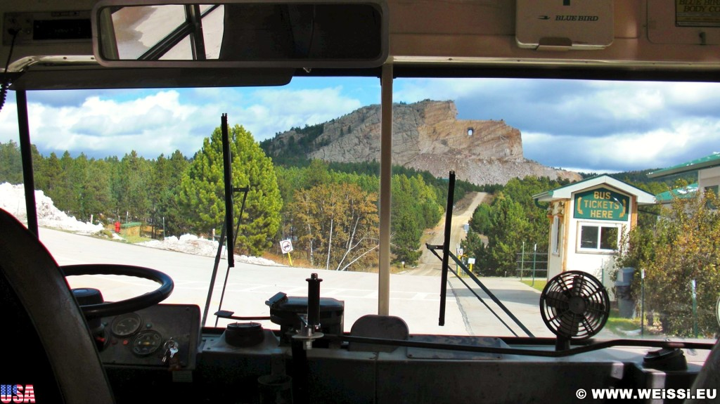 Crazy Horse Memorial. - Skulptur, Gesicht, Black Hills, Granit, Berne, Crazy Horse Memorial, Custer, Crazy Horse, Thunderhead Mountain, Korczak Ziolkowski - (Berne, Custer, South Dakota, Vereinigte Staaten)