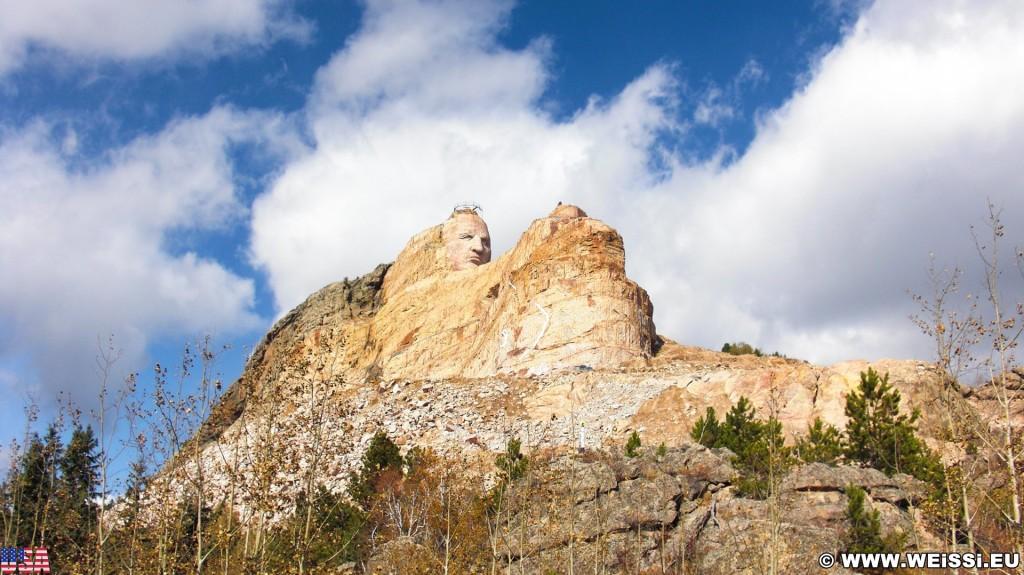 Crazy Horse Memorial. - Skulptur, Gesicht, Black Hills, Granit, Berne, Crazy Horse Memorial, Custer, Crazy Horse, Thunderhead Mountain, Korczak Ziolkowski, Kopf - (Berne, Custer, South Dakota, Vereinigte Staaten)
