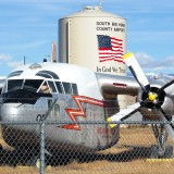 Airport Museum. C-119 Flying Boxcar - Museum of Flight, Greybull. - Flugzeuge, Bighorn Basin, Transportflugzeug, Propeller, Flugzeugmuseum, Silo, Tank, C-119 Flying Boxcar Tanker 06, Royal Canadian Air Force, Museum - (Greybull, Wyoming, Vereinigte Staaten)