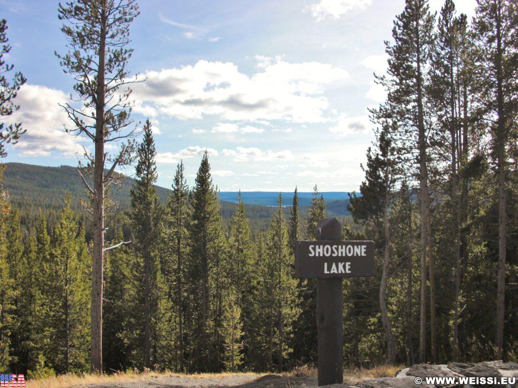 Yellowstone-Nationalpark. Shoshone Lake Overlook. - Shoshone Lake Overlook - (West Thumb, Moran, Wyoming, Vereinigte Staaten)