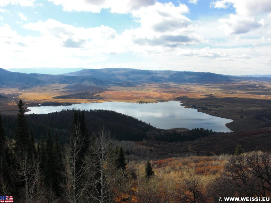 On the Road. Ausblick auf den Lake Catamount. - Landschaft, Panorama, See, On the Road, Wasser, Lake Catamount - (Steamboat Springs, Colorado, Vereinigte Staaten)