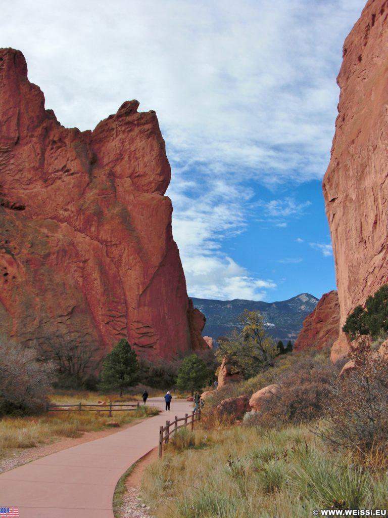 Garden of the Gods - Central Garden Trail. Am Central Garden Trail finden sich viele schöne Motive.. - Sehenswürdigkeit, Sandstein, Sandsteinformationen, Park, Ausflugsziel, Garten der Götter, Naturpark, sehenswert, Central Garden Trail - (Glen Eyrie, Colorado Springs, Colorado, Vereinigte Staaten)