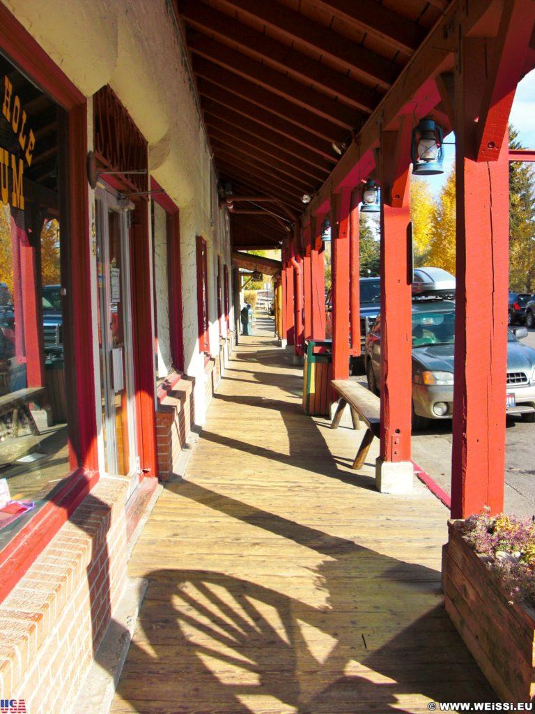 Jackson Hole. Hier gibt es Gehsteige aus Holz.. - Jackson Hole Historical Society & Museum - (Jackson, Wyoming, Vereinigte Staaten)