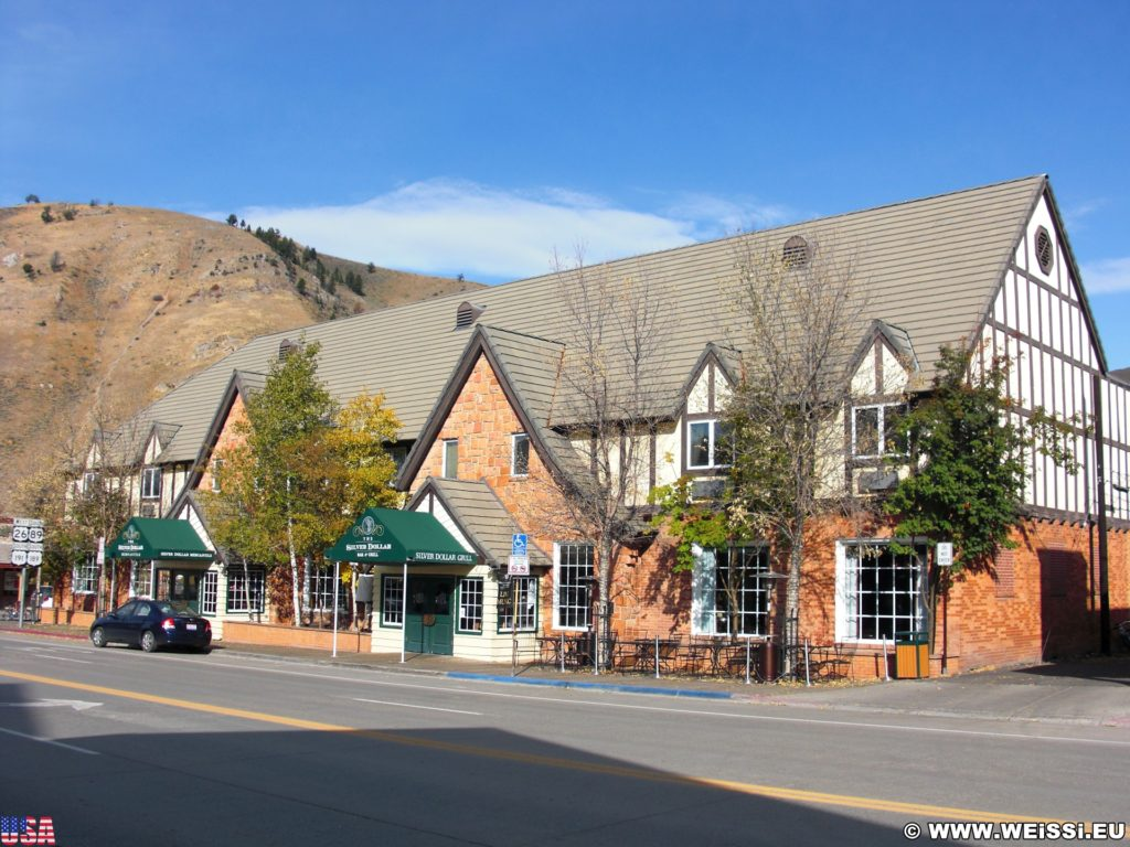 Jackson Hole. Gebäude in Jackson, Wyoming. - Gebäude, Haus, Silver Dollar Bar & Grill - (Jackson, Wyoming, Vereinigte Staaten)
