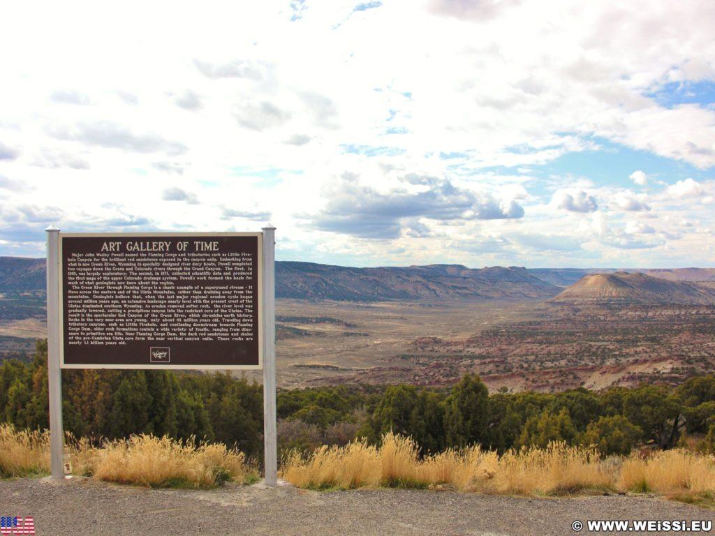 On the Road. Art Gallery of Time. - Landschaft, Panorama, Aussichtspunkt, Art Gallery of Time - (Kanda, Rock Springs, Wyoming, Vereinigte Staaten)