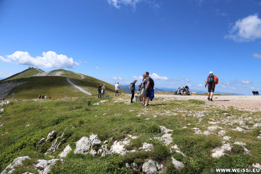 Schneeberg - Tagesausflug, Losenheim - Edelweißhütte - Fadensteig - Fischerhütte. Das Hochplateau bietet ein wunderschönes Panorama und nahezu uneingeschränkte Aussicht.  - Alpen, Berge, Gebirge, Himmel, Hochplateu, Landschaft, Panorama, Wolken - (Losenheim, Vois, Niederösterreich, Österreich)